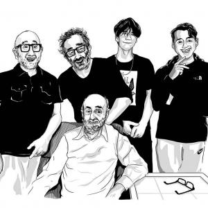 Baddiel-family-portrait-by-zoom-rockman