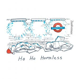 Ho Ho Homeless - Cartoon Collectibles by Zoom Rockman