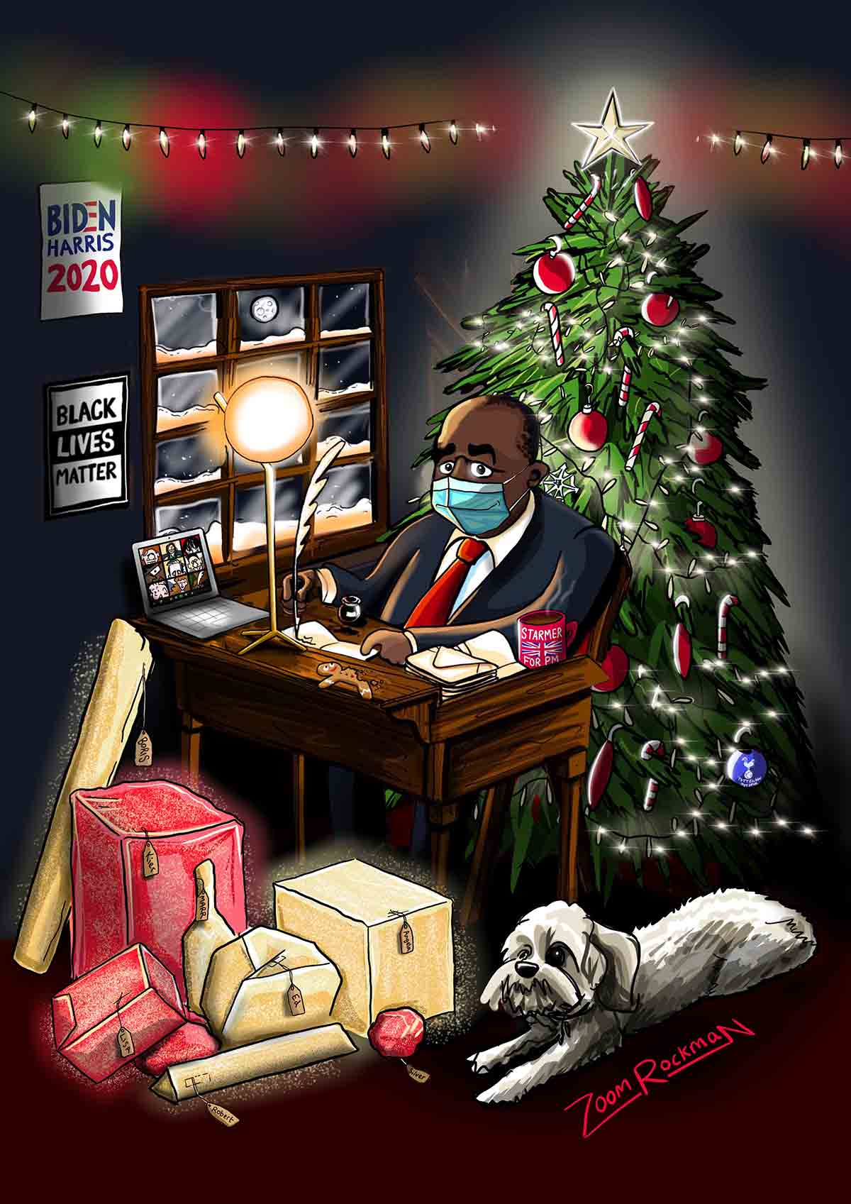 Christmas Card for MP for Tottenham, David Lammy 2020