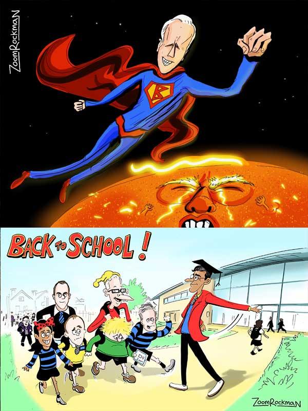 Editorial Cartoons - Zoom Rockman